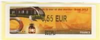 LISA De Brest, Tram Et Voilier, Très Belle Illustration. Ecopli - 2010-... Vignettes Illustrées