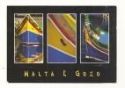 Cp, Malte, Brightly Coloured Boats, Multi-Vues, écrite - Malte