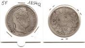 Lot Pièce 5 Francs Louis Philippe I 1834 Q  Argent TB Rare - J. 5 Franchi
