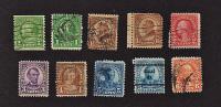 B435 U.S.A.  1922/25 ( 10 Stamps )  ( Sc# 552,552,553,553,554,555,556,557,557,558 ) CH - United States