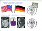 West-Berlin, John F. Kennedy - Dr. Conrad Adenauer_1, Sonderstempel BONN, 23.6.1963 - Ereignisse