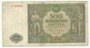 Poland 500 Zlotych 1946 - Pologne