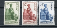 Germany SAAR 1950 Sc 222-4 MI 293-5 MvLH  Holy Year  CV 20 Euro - Saar