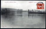 Dormans - Le Pont Suspendu - Crue De La Marne 1910 - Dos écrit Et Timbré En 1910 - Dormans