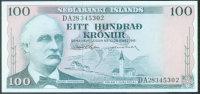 Iceland 100 Krónur 28.3.1961 Pick 44a AU - Iceland