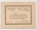 ### Carte De Visite , H. Le Hazif , Haute Couture , Robes , Manteaux , Rue A.  Orillard , Poitiers - Cartes De Visite