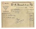 ### Facture , Ets A. Monnet Et Ses Fils , Bois De Feu , Butane , Fioul , Rue De La Burgonce , NIORT , 1958 - Invoices & Commercial Documents
