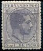 Fernando Poo 1882, 5 Cts Alfonso XII Edifil 7(*) Nuevo - Fernando Poo