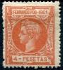 Fernando Poo 1901 Edifil 107* Nuevo 4 Pts Rojo De Alfonso XIII - Fernando Poo