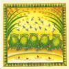 Carte Postale Double Maddicott 10x10cm + Enveloppe Assortie - Five Little Speckled Frogs / Grenouille - Animaux & Faune