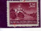 PANORAMAS-TRAKOSCAN CASTLE-3-50 K-ERROR-DOT NEAR A-BROKEN LINE ON TOP-NDH-CROATIA-1943 - Croatia