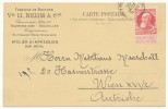 BELGIEN BELGIUM BELGIË BELGIQUE # 71 TAB POSTKARTE POSTCARD (1909) - 1905 Breiter Bart