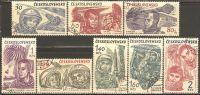 Czechoslovakia 1964 Mi# 1463-1470 Used - World's First 10 Astronauts - Space