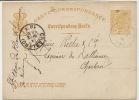 Rodange Entier Postal 1878 Vers Charleroi SA Des Hauts Fourneaux 2 Trous En Haut - Rodange