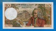 10 Fr  7/8/1969  Neuf  2 Trous D' épingle - 10 F 1963-1973 ''Voltaire''