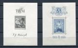 Czechoslovakia  1938 3 Souvenir Sheets  Mi Block 3-5 MLH - Unused Stamps