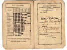 H CARD OF MEMBERSHIP IN HUNTING SOCIETY KINGDOM OF JUGOSLAVIA ZAGREB CROATIA - Historical Documents