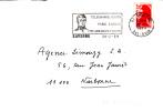 FLAMME SUR ENVELOPPE SAVERNE 67 TELEGRAPHE PARIS LANDAU CHAPPE - Marcophilie (Lettres)