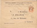Enveloppe De La Compagnie Générale Des Allumettes Chimiques, Paris, Cérès 40 C, Roulette étoile, 1875 - Otros