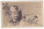 CHILDREN & VICTORIAN FRAME WITH BIRD NPG PHOTO Ca1900 POSTCARD Cpa AK (W3-00100) - Kinderen