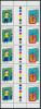 COCOS KEELING ISLANDS (AUSTRALIA) 1998, Children´s Drawings Gutter Strips** - Isole Cocos (Keeling)