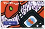 Venezuela, Bs. 10.000, Telcel/TelPago, Telephone, Prepaid Card, 2 Scans - Venezuela