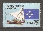MICRONESIA - 1990  USA ASSOCIATION MNH **  SG 199 - Micronesia