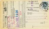 611/19 - Carte Caisse De Retraite TP Lion Héraldique NAMUR 1930 - Griffe HAVELANGE -  Verso Admin. Communale De VERLEE - Poststempel
