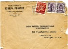 """Belgium- Cover Posted From An Enterprise/ Verviers [7.12.1948]to """"Borg Warner International Corp.""""/ Detroit-Michigan USA - Postmark Collection"""