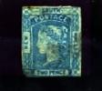 AUSTRALIA/NEW SOUTH WALES - 1851 2d. PRUSSIAN BLUE  THIN BOTTOM LEFT  F/U - 1850-1906 New South Wales