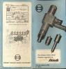 Technische Brochure BOSCH - Stuttgart - Injecteurs - Liste 1950 - Auto
