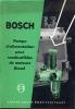 Technische Brochure BOSCH - Stuttgart - Pompe D' Alimentation - Auto