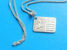 (29) Chaine Argent Et Pendentif Argent Facon Carte Je T´aime  3,95 Grs - 40,5 Cm - Collares/Cadenas