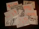 Lot Of 10 Cards: Rockcarvings - Felszeichnungen - Dessins Gravès Dans La Pierre   # 359 # - Postcards