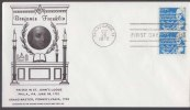 Benjamin Franklin, Raised St. John's Lodge, Grand Master Pennsylvania Freemasonry  Plumbline Masonic Cover 1972 USA - Franc-Maçonnerie