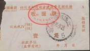 CHINA CHINE ADDED CHARGE LABELS OF SICHUAN  WENJIANG  LOCAL POSTAL CONSTRUCTION CHARGE RECEIPT  0.1YUAN - 1949 - ... République Populaire