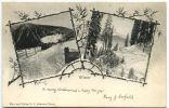SWITZERLAND 1902 Winter Davos Steam Train Vignette U/B Postcar - Schweiz