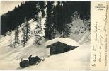 SWITZERLAND 1904 Davos Heustall Im Winter U/B Postcard Used - Schweiz