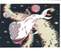 (111) Space Whale 3-D - Posters On Cards