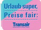 TRANSAIR AIRLINES VINTAGE AVIATION LABEL - Baggage Labels & Tags