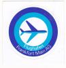 FRANKFURT AIRPORT VINTAGE AVIATION LABEL - Baggage Labels & Tags