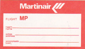 MARTINAIR AIRLINES VINTAGE AVIATION LABEL - Baggage Labels & Tags