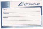 ESTONIAN AIR AIRWAYS VINTAGE AVIATION LABEL - Baggage Labels & Tags
