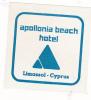 CYPRUS LIMASSOL APOLLONIA BEACH HOTEL VINTAGE LUGGAGE LABEL - Hotel Labels