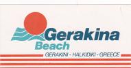 GREECE HALKIDIKI GERAKINA BEACH HOTEL VINTAGE LUGGAGE LABEL - Hotel Labels
