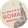 ITALY MODENA ALBERGO ROMA VINTAGE LUGGAGE LABEL - Hotel Labels