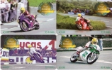 SERIE COMPLETA 4 TARJETAS MOTOS DE LA ISLA DE MAN  AÑO 2001 (MOTORBIKE) - Isla De Man