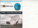NIGERIA - Earth Station, Nigerian Telecommunications Ltd First Chip Issue 200 Units(2NAIFIA), Chip Sie 37, Used - Nigeria