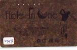 Télécarte Japon * TELEFONKARTE JAPAN * GOLF  * (2359) HOLE IN ONE *  SPORT * PHONECARD * GOLD CARD - Sport