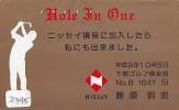Télécarte Japon * TELEFONKARTE JAPAN * GOLF  * (2395) HOLE IN ONE *  SPORT * PHONECARD * - Sport
